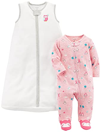 Amazon Com Carter S Baby Girls 2 Pack Fleece Sleep Play Sleepbag