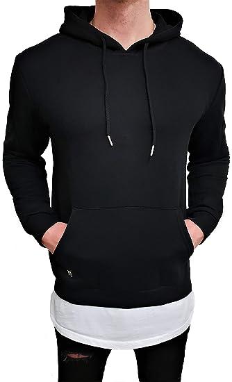 9c50a23a3762 ... Deep T-shirt Long Rouge Swag Pull Veste Sweat Pull en tricot Sweat-shirt  neuf Skater Hip Hop Long M capuche Veste Sweat Pull blanc U Noir  Amazon.fr   ...