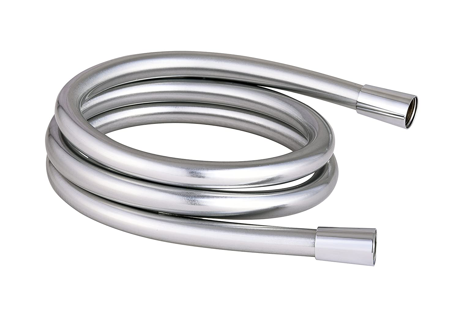 1.5m Universal PVC Smooth Chrome Flexi Shower Hose Universal Replacement Mira Triton Grohe Tailored Plumb