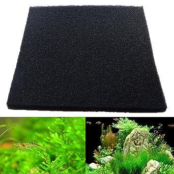 EsportsMJJ 50X50X2Cm Negro Acuario Bioquímico Algodón Filtro Espuma Peces Tanque Esponja Almohadillas - #1: Amazon.es: Industria, empresas y ciencia