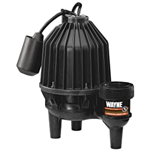 Wayne SEL50 1/2 hp Thermoplastic Sewage Pump with Tether Float Switch