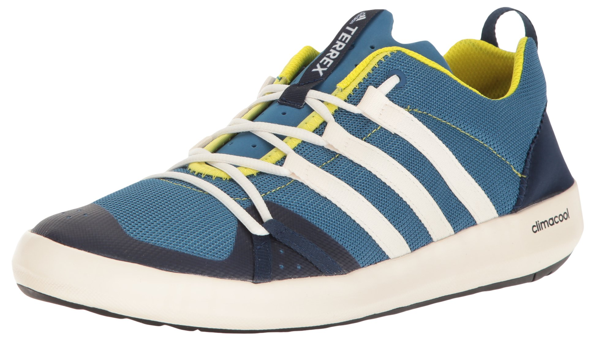 low priced 1197c 4e7d5 Galleon - Adidas Outdoor Men s Terrex Climacool Boat Water Shoe Core  Blue Chalk White Bright Yellow 12 M US