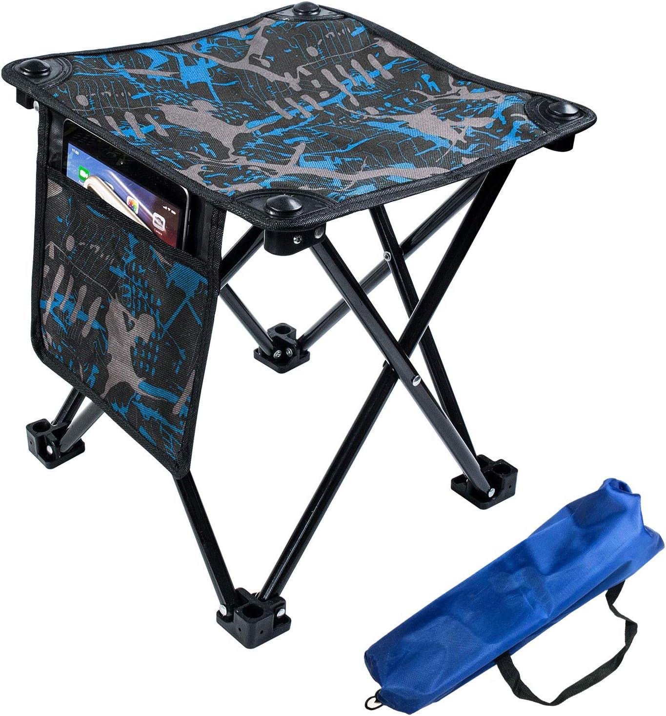 Aiwoxing Taburete Plegable Portátil Silla Portátil, Compacto Ligero para Interiores y Exteriores al Aire Libre de Camping Pesca Senderismo Camping Caza Picnic Viaje