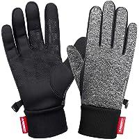 anqier Handschuhe Herren Damen Touchscreen Fahrradhandschuhe Männer Winter Winddicht Warme Winterhandschuhe Outdoor Gloves zum Laufen Wandern Reiten Bergsteigen