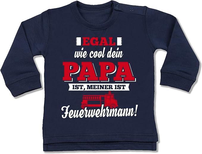 Feuerwehr Baby Egal wie cool Dein Papa ist meiner ist Feuerwehr Mann Baby T-Shirt Kurzarm Shirtracer