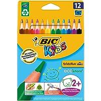 Bic 8297356 Kids Evolution Triangle Pastelli, 10.2 mm, Confezione da 12