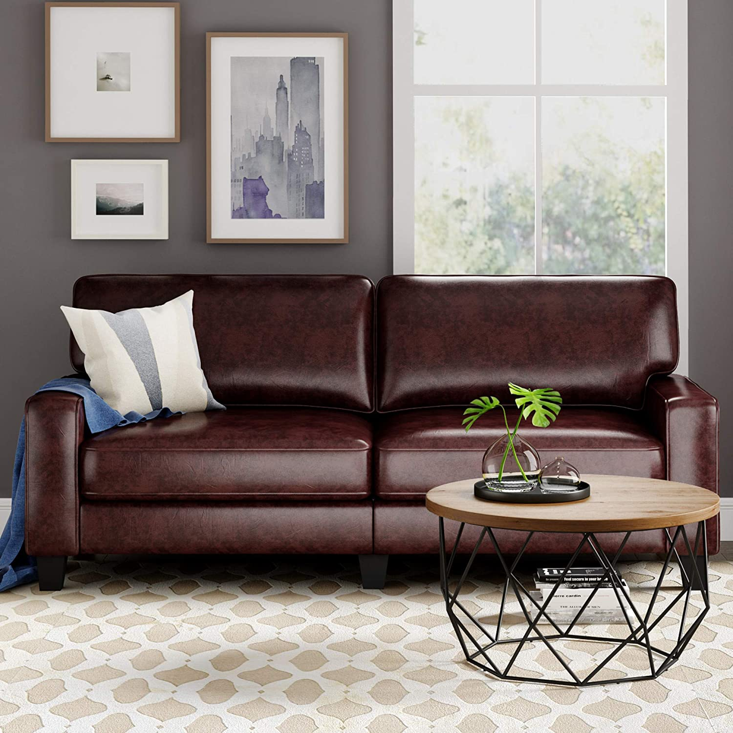 "Serta RTA Palisades Collection 78"" Bonded Leather Sofa"