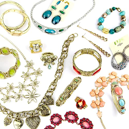 5674d23d67c94 Assorted 1928 Fashion Jewelry Mystery Package 1-Earring 1-Necklace &  1-Bracelet (Retail Value $50.00)