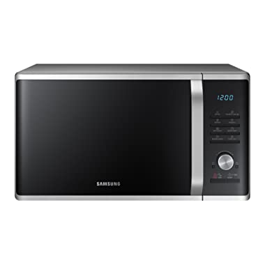 Samsung MS11K3000AS 1.1 cu. ft. Countertop Microwave Oven with Sensor and Ceramic Enamel Interior, Silver Sand