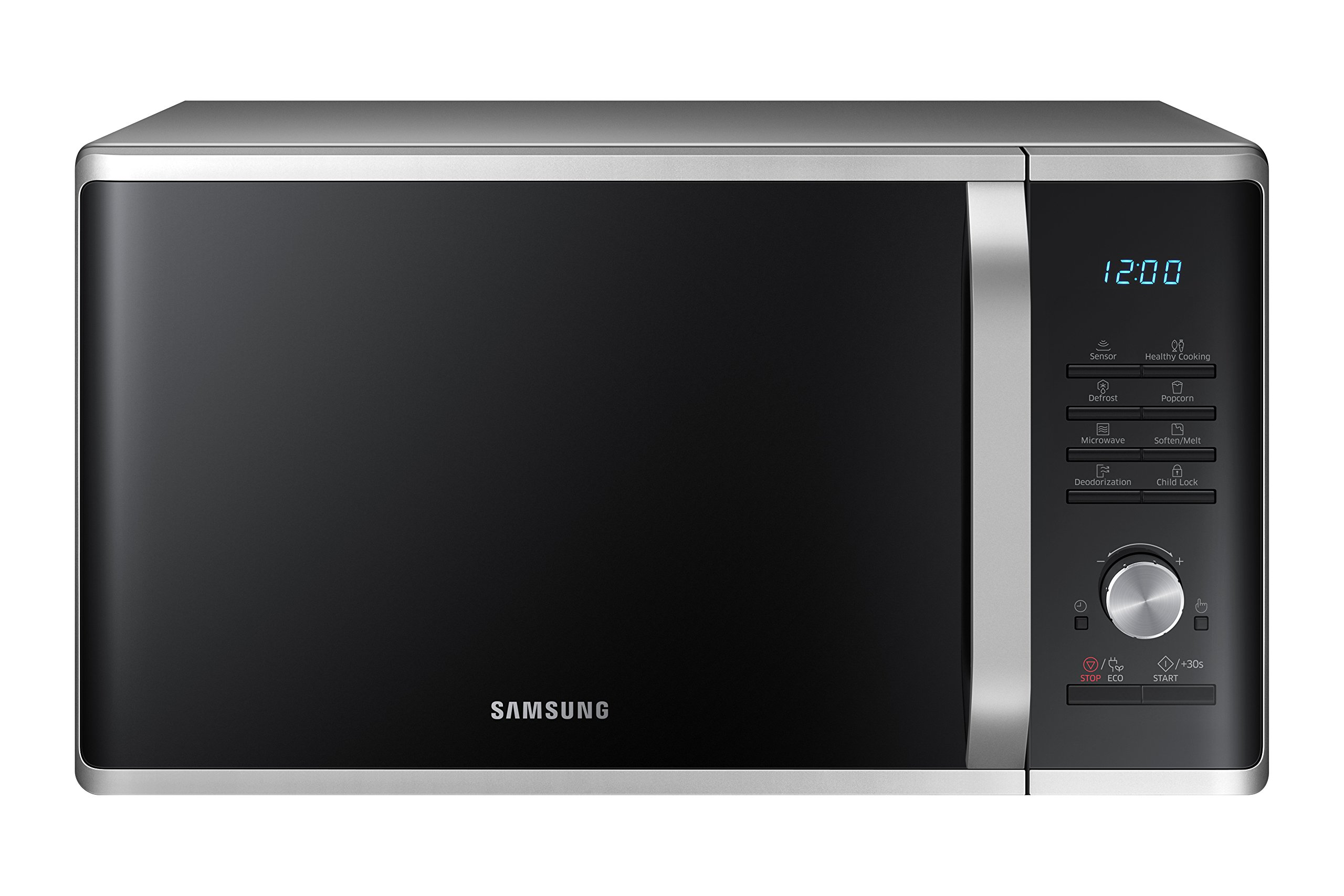 Samsung MS11K3000AS 1.1 cu. ft. Countertop Microwave Oven with Sensor and Ceramic Enamel Interior, Silver Sand by Samsung