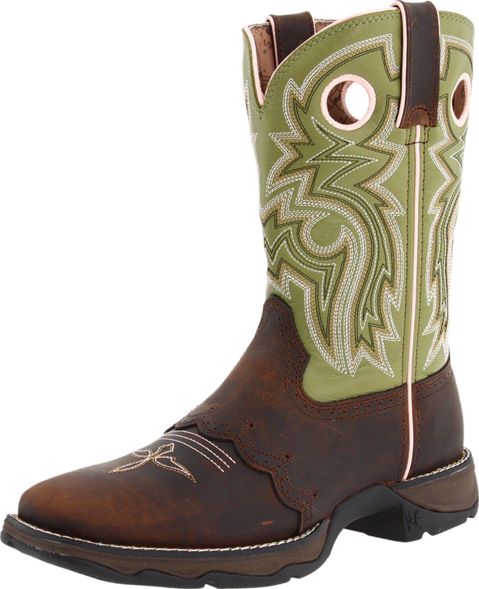 Women's Durango Square Toe Western Boots BROWN 9.5 M
