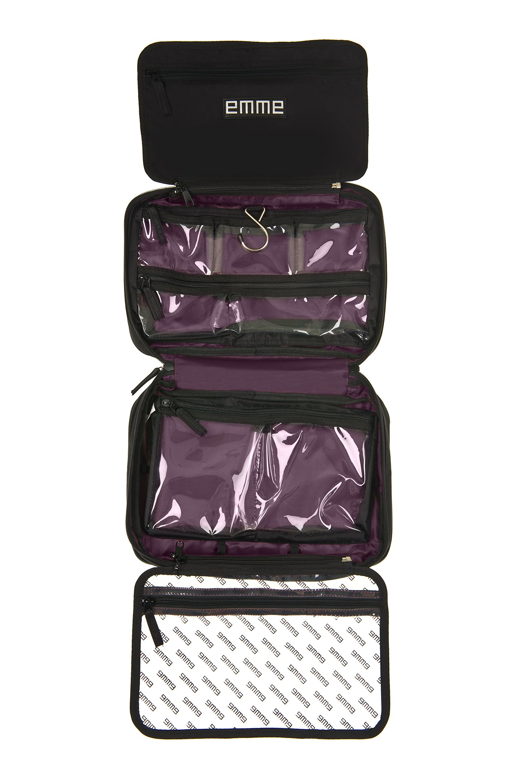 EMME Original - Hanging Compartmentalized Cosmetic and Toiletry Bag for Organized Travel