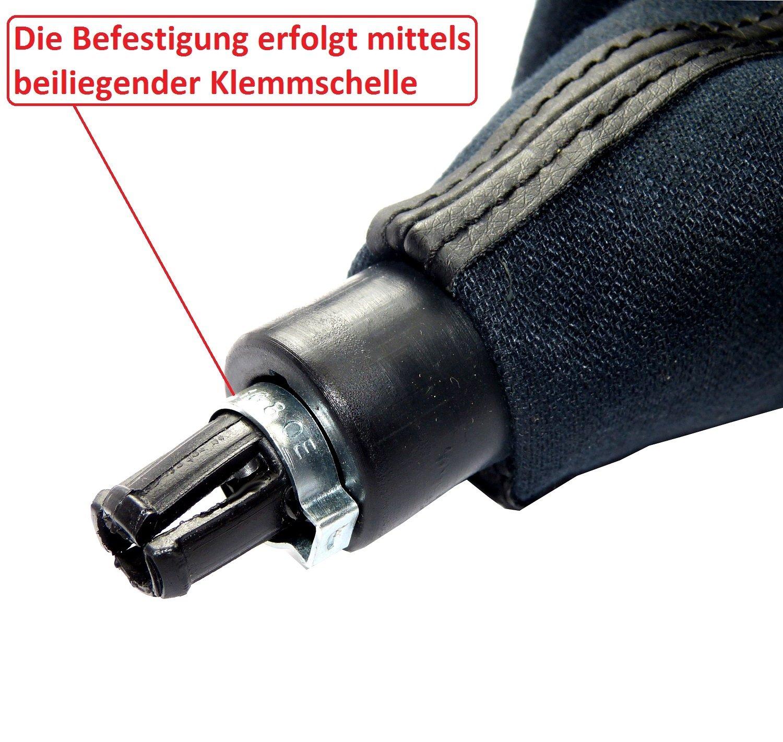 Schaltknauf L/&P Car Design GmbH L/&P A255 Schaltsack Schaltmanschette Rahmen 5 Gang Komplettset Plug /& Play Ersatzteil f/ür 6Q1711113