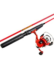 Wakeman 80-FSH1001 Spinning Combo and Tackle Set Spawn Series, Fire Red