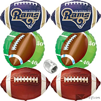 online store eb2c4 b3076 Amazon.com: Los Angeles Rams Mylar Foil Balloons Party Pack ...
