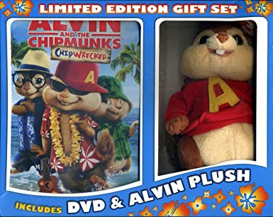 amazon com alvin and the chipmunks chipwrecked dvd gift set with