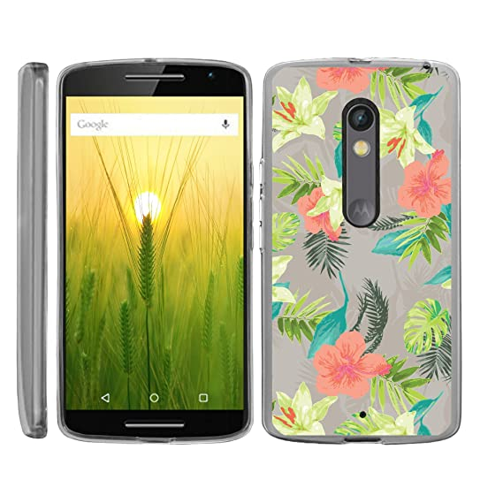 official photos 3b197 7b48c TurtleArmor | Compatible for Motorola X Play Case | Motorola Droid MAXX 2  Case [Flexible Armor] Ultra Slim Compact Clear Flexible TPU Case Fitted  Soft ...