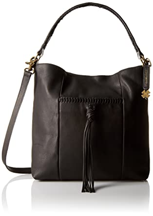 Amazon.com: Lucky Brand Sydney Xbody Hobo, Black: Clothing