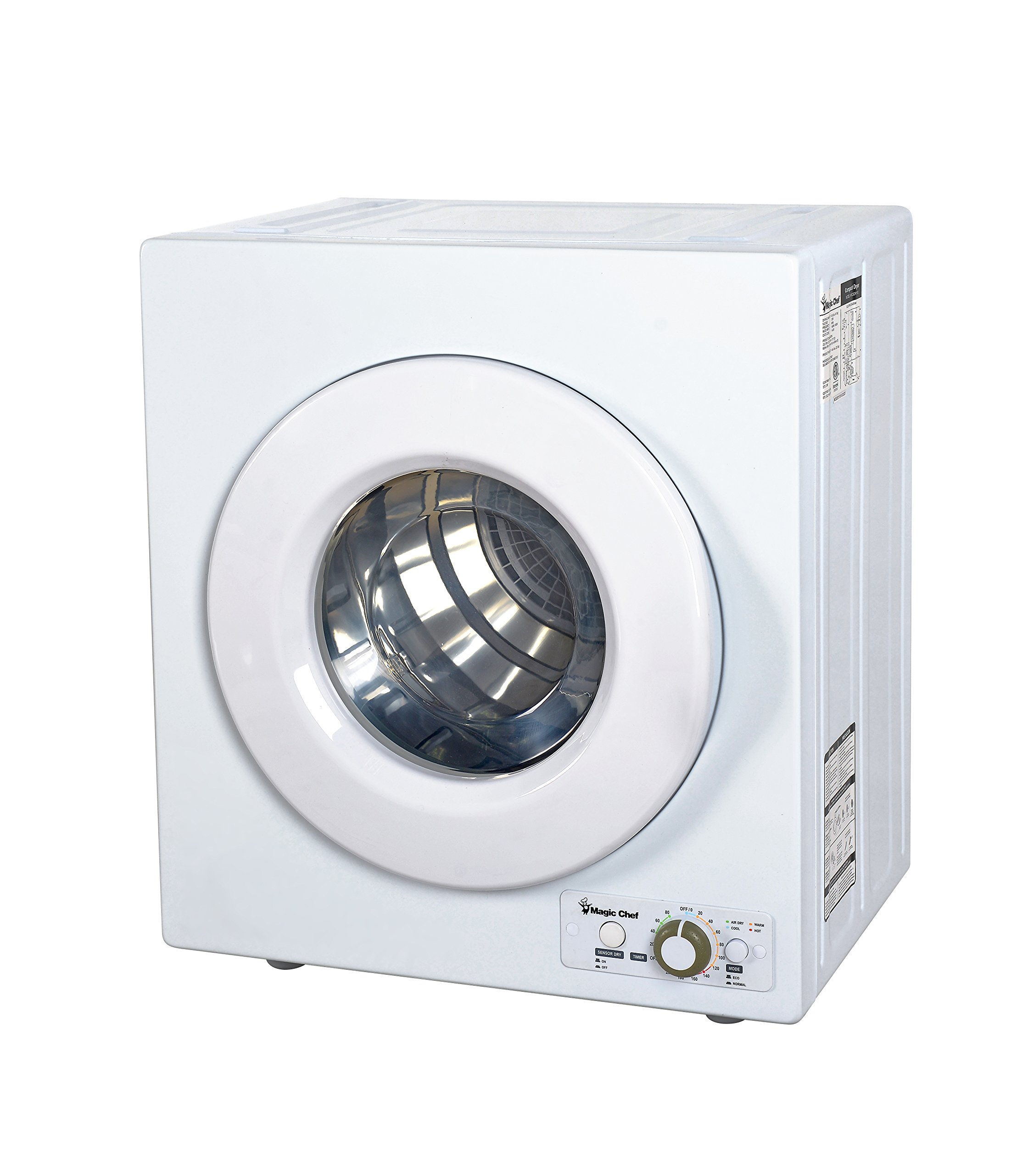 Magic Chef MCSDRY1S 2.6 cu. ft. Laundry Dryer, White by Magic Chef