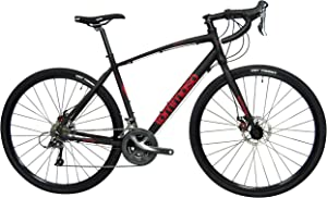 Tommaso Sentiero Shimano Claris Gravel Adventure Bike With Disc Brakes, Extra Wide Tires, Perfect For Road Or Dirt Trail Touring, Matte Black