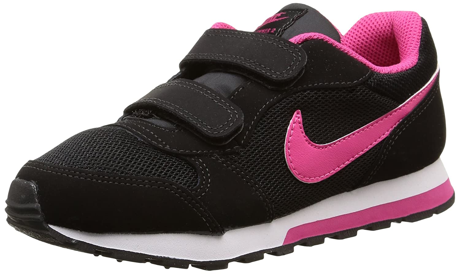 Nike MD Runner PSV Zapatillas Para Niña Color Negro Rosa Blanco