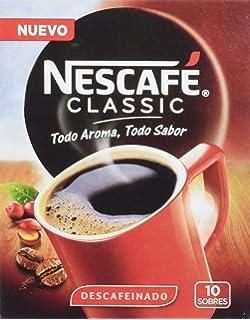 Nescafé - Café soluble descafeinado - 20 g (10 sobres x 2 g)