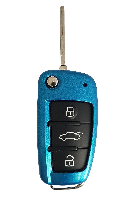 Custodia per chiavi Audi, senza chiavi, in plastica ABS bianco ASARAH