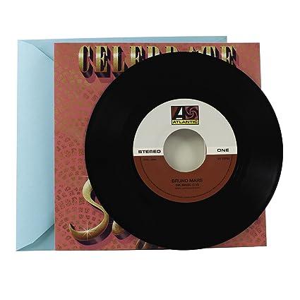 Amazon hallmark birthday greeting card with vinyl record real hallmark birthday greeting card with vinyl record real bruno mars 45 record and 2 songs m4hsunfo