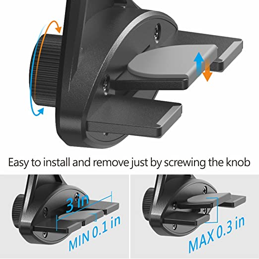 Veckle Car Mount Holder Air Vent Easy Install Universal Car Mount Cell Phone Holder Stand Cradle for Smartphone Car iPhone 7 6S 6 Plus Samsung Galaxy S8 S7 S6 Edge GPS Black Car Phone Holder