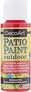 product image for DecoArt Patio Paint 2-Ounce Geranium Red Acrylic Paint