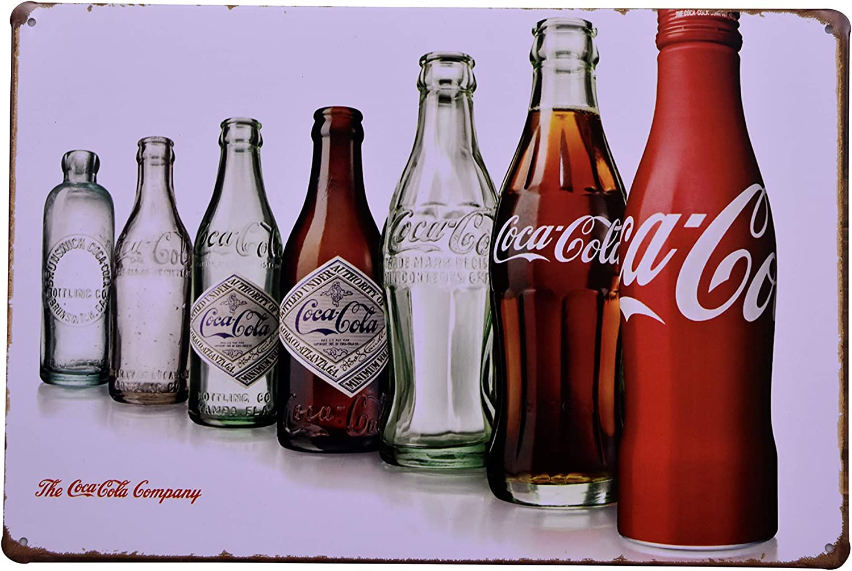 Coke Cola Bottle Revolution Metal Tin Sign Posters Diner Pub Restaurant Decor