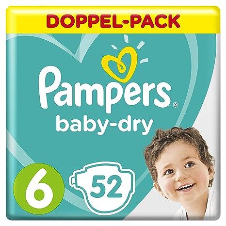 Pampers Baby-Dry Windeln, Gr. 6, für Atmungsaktive Trockenheit, 52 Stück