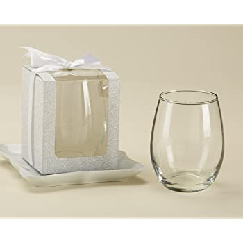 Amazon Kate Aspen Its A Boy 9 Oz Stemless Wine Glass Set Of