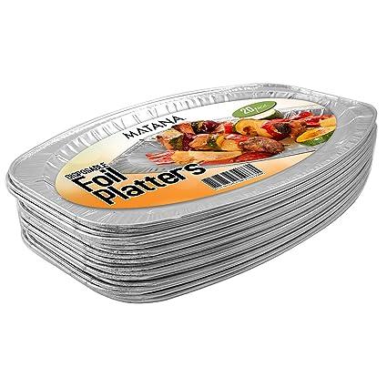 Paquete de 20 Bandeja Para Fiesta – 35cm - Vajilla Rígida y Resistente – Azafate Perfecto