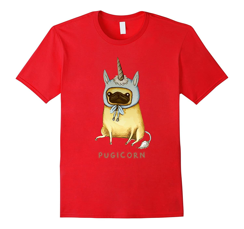 Cute Pugicorn T shirt - Funny Pug Dog Shirt For Boys-FL