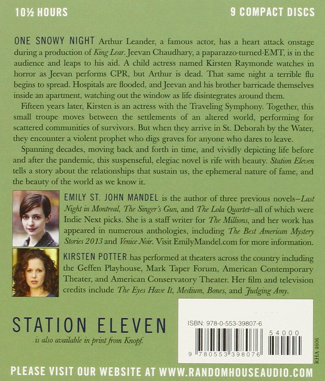 Station Eleven: A Novel: Amazon: Emily St John Mandel, Kirsten Potter:  Books