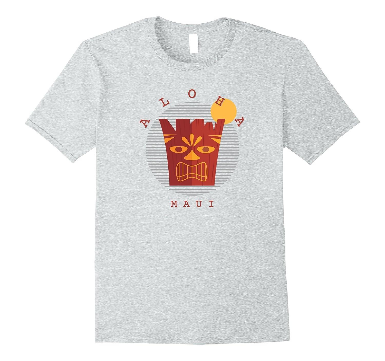 Aloha Maui Tiki Hawaii Hawaiian Islands Souvenir T-shirt-T-Shirt
