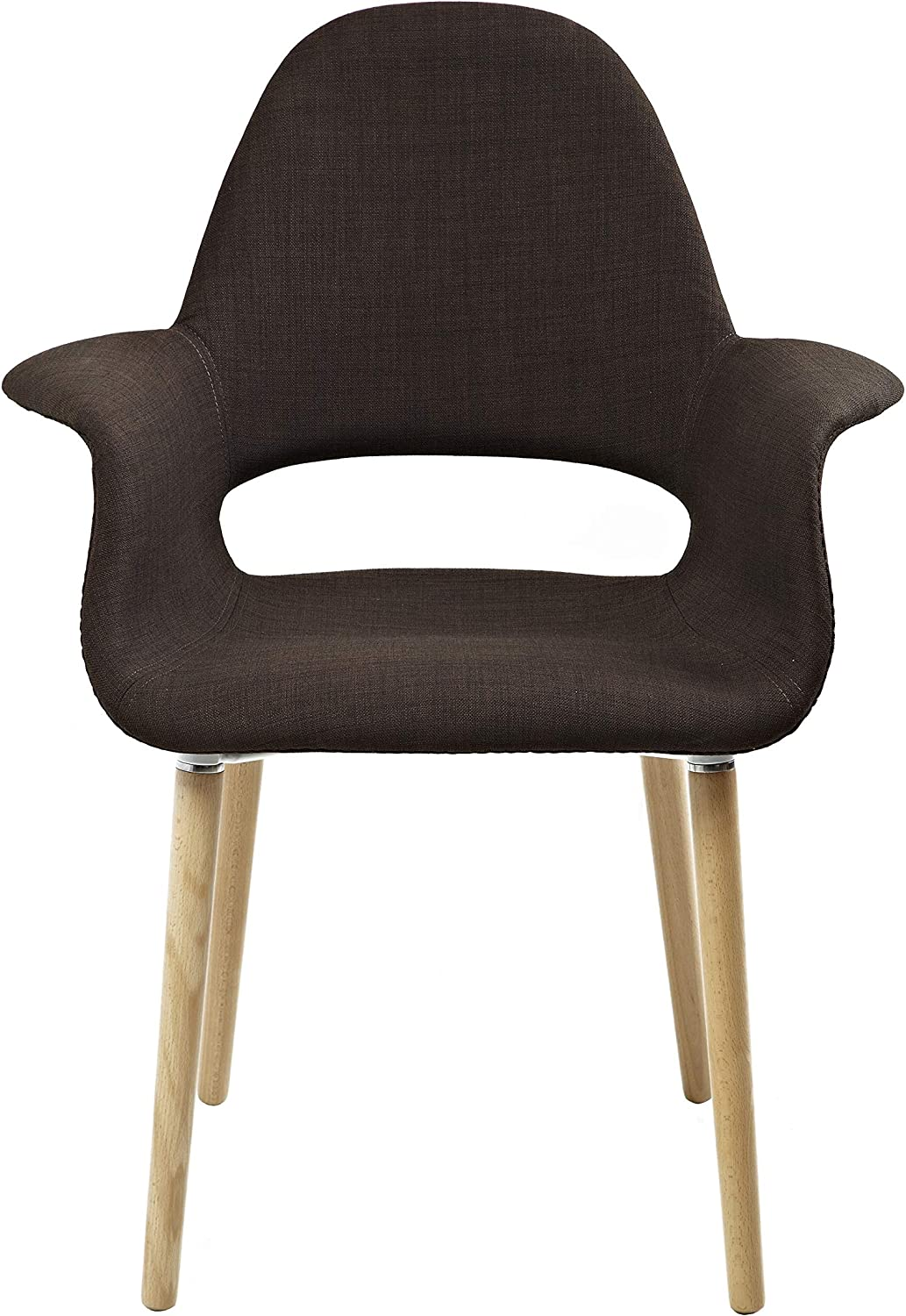 2xhome Upholstered Mid Century Modern Chair Arm quality Direct stock discount assurance Natu with Dining