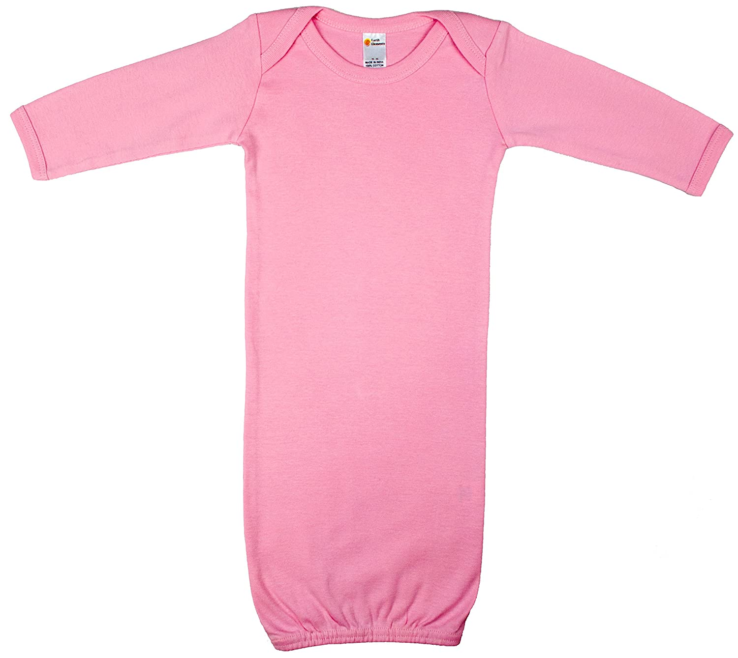 Earth Elements Baby Long Sleeve Gown ABBAGN0N1L-BL-NB