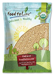 Organic Rolled KAMUT Khorasan Wheat Flakes, 6 Pounds - Non-GMO, Made from Whole Wheat Berries, Kosher, Bulk, Great for Cereal, Granola, Muffins and Milling into Flour for Baking, Product of the USA.