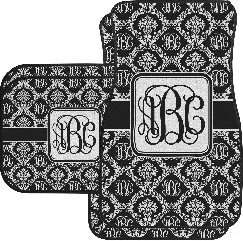 RNK Shops Monogrammed Damask Car Floor Mats Set - 2 Front & 2 Back (Personalized)