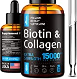 Premium Biotin & Collagen Hair Growth Drops - Potent US Made Hair Growth Product - Healthy Skin & Nails - Liquid Biotin…