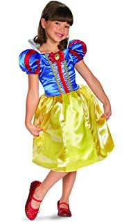 Girls Snow White Sparkle Classic Halloween Costume