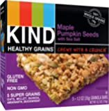 KIND Healthy Grains Granola Bars, Maple Pumpkin Seeds with Sea Salt, Gluten Free, 1.2 oz Bars, 5 Count