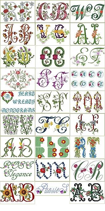 Amazon com: ABC Machine Embroidery Designs Collection -30