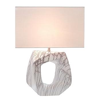 Tischleuchte FLORENCE Leinen Hell 60 Cm Mit Keramikgestell Tischlampe Lampe Wohnzimmerlampe