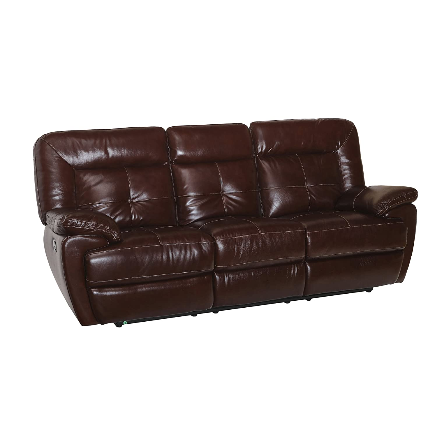 Amazon.com: Coja by Sofa4life Azusa Leather Recliner Sofa ...