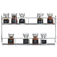 VonShef 2 Tier Spice Herbs Rack - Suitable for Wall Mount or Inside Cupboard