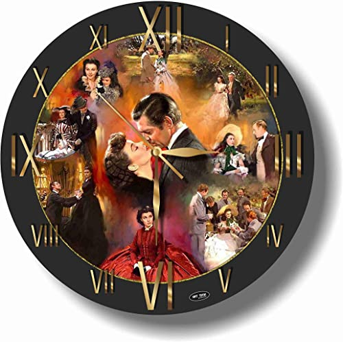 Gone with The Wind 11.4 Handmade Wall Clock – Get Unique d cor for Home or Office Best Gift Ideas for Kids, Friends, Parents and Your Soul Mates.