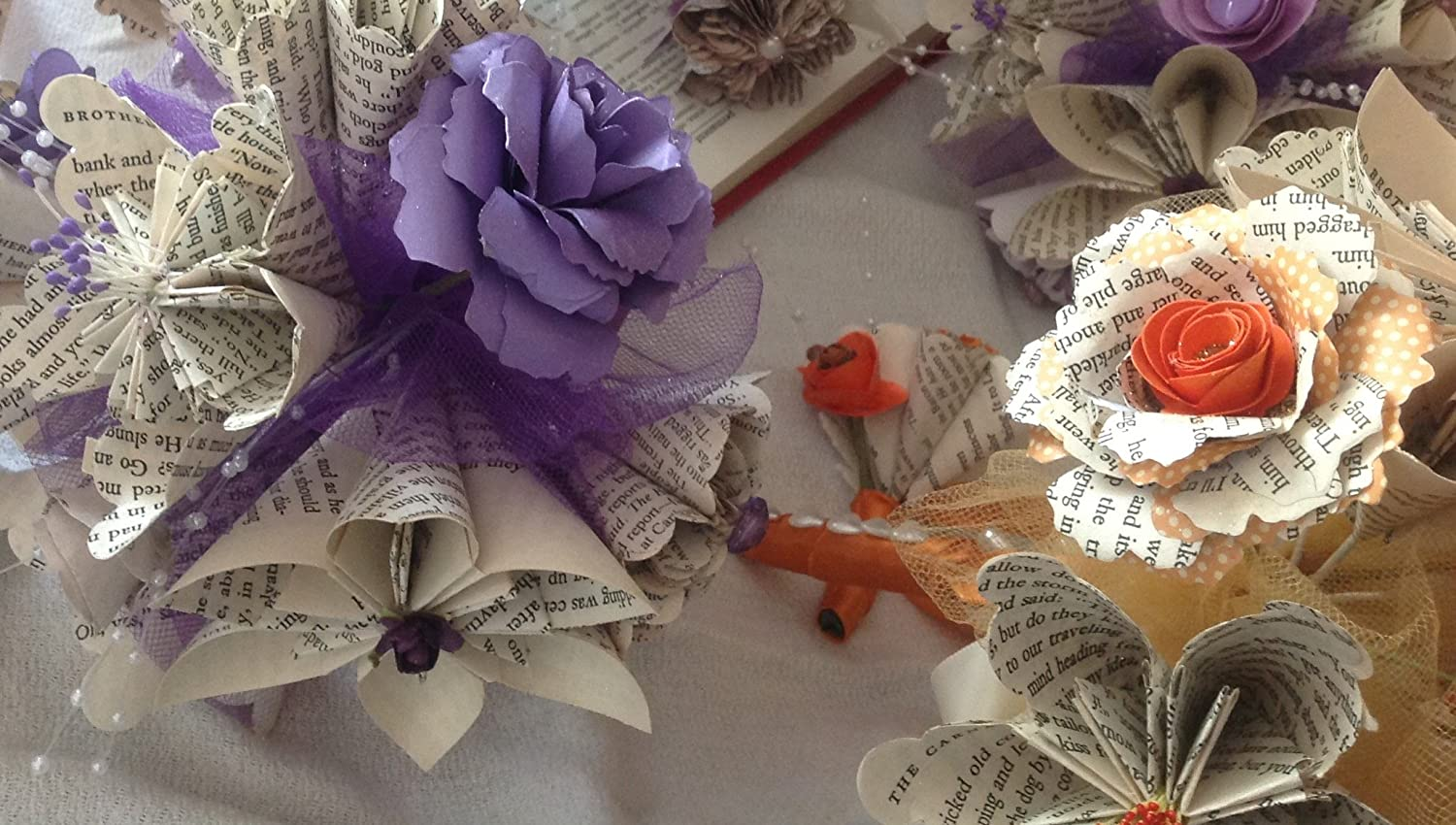 DIY How To: Origami Paper Flower Bouquet | Capitol Romance ... | 850x1500